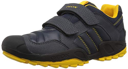 Geox New Savage Boy 9 Rugged Sneaker, Navy/Yellow 39 Medium EU Big Kid (6 US)