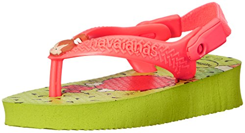 Picture of Havaianas Kids Flip Flop Sandals, Baby Flintstones, Bamm-Bamm Rubble, (Toddler/Little Kid), Neon Orange, Yellow LED,22 BR (8 M US Toddler)