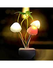 Lichtregeling nachtlampje, nachtlampje, stopcontact, kleurrijke led-paddenstoel-lotusblad-nachtlampje met schemeringssensor, led-nachtverlichting voor baby's, kinderen, volwassenen, kerstcadeaus