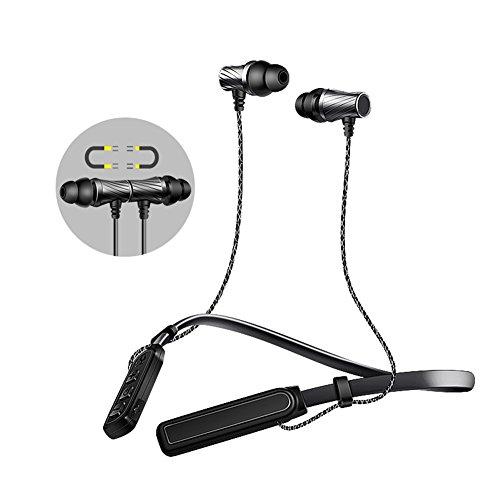 LEDONG Sport Bluetooth Headset and Neckband Wireless Rear-Mo
