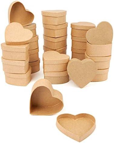 Factory Direct Craft Paper Mache Assorted Shape Boxes 24 Box Set