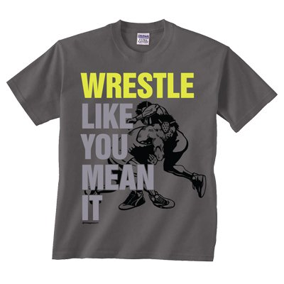 Image Sport Wrestle Like You Mean It T-shirt Charcoal Youth Medium