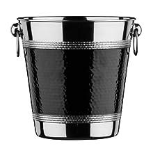 Premier Housewares Cubo Enfriador, Acero Inoxidable, Black, Centimeters