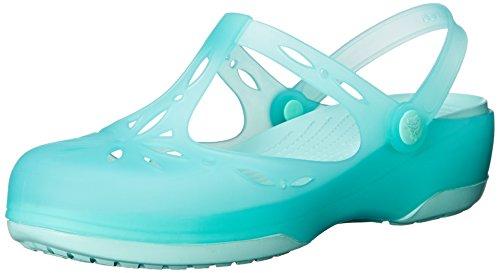 Crocs Carlie Cutout W, Sandales - Femme Bleu (New Mint/New Mint)