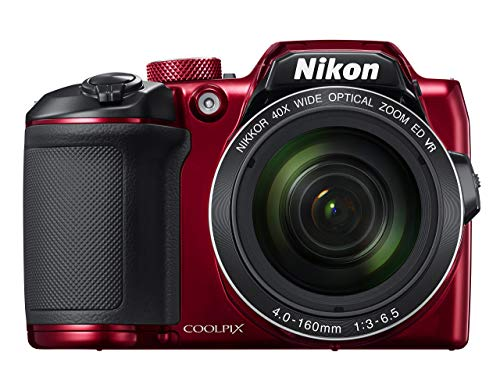 Nikon COOLPIX B500 16MP Digital Camera with 3 Inch TFT LCD Screen Nikkor Lens With 40x optical zoom wifi, Red (Certified Refurbished) 3 Inch Screen Nikon Coolpix