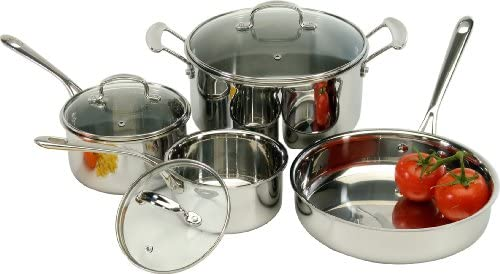 ExcelSteel 506 Tri-Ply Cookware Set, 14 x 10 x 7.2