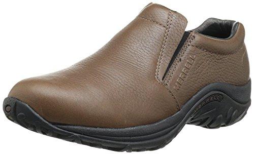 Merrell Mens Jungle Leather Slip-On Shoe, Mahogany Brown, 43 D(M) EU/8.5 D(M) UK