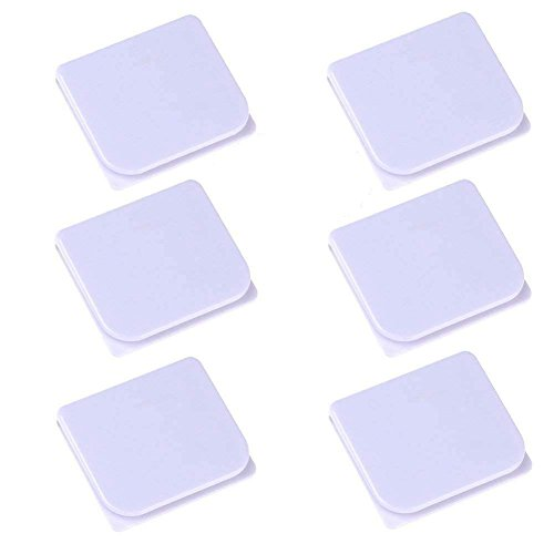 Shower Splash Clips (6 Pack),LGDehome Self Adhesive Anti Splash Shower