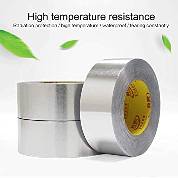 XKBESTGO Foil Washi Tape Aluminum Foil Tape Foil Duct Tape High Heat Waterproof