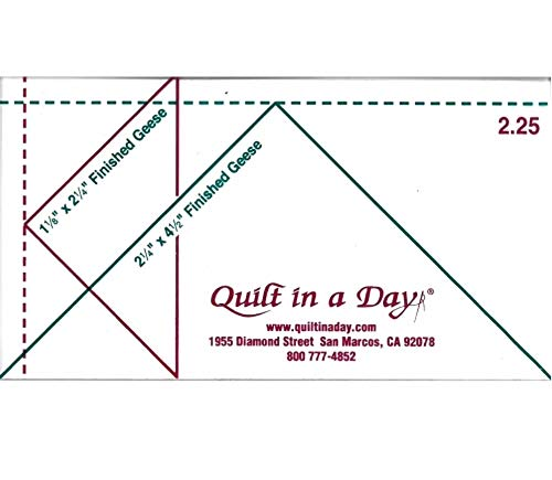 (2.25 Flying Geese Ruler by Quilt in a Day)