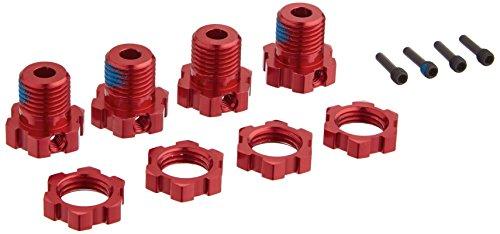 Traxxas 5353R  Red-Anodized Aluminum 17mm Splined Wheel Hubs (set of four) (Set Aluminum Hub)