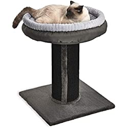 AmazonBasics Extra Large Cat Scratching Post Tree Tower With Bed - 19 x 19 x 26 Inches, Black