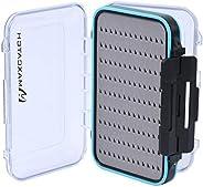 Maxcatch Waterproof Fly Box Double Clear Lid Fly Fishing Box Easy Grip Foam(Foam Insert, Large)