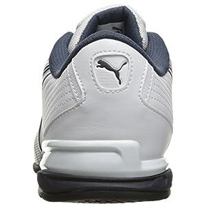 PUMA Men's Super Elevate Cross-Trainer Shoe, White/New Navy, 7 M US