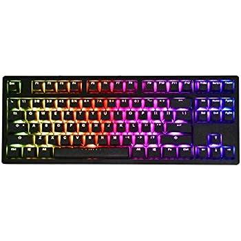 iKBC MF87 V.2 RGB Mechanical Keyboard with Cherry MX Black Switch, Black Aluminum