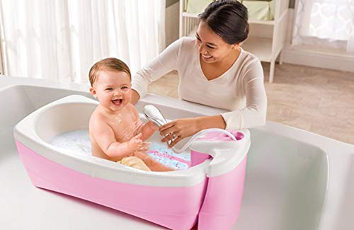 Summer Infant Lil Luxuries Whirlpool, Bubbling Spa & Shower, Pink