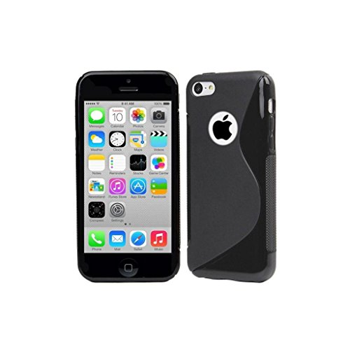 Posh Style Apple Iphone 4 4G 4S Black Silicone Gel S Line Grip Case Cover For Apple Iphone 4 4G 4S By G4GADGET®