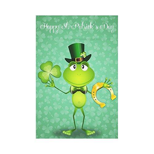 InterestPrint Green Frog St. Patrick's Day Polyester Garden