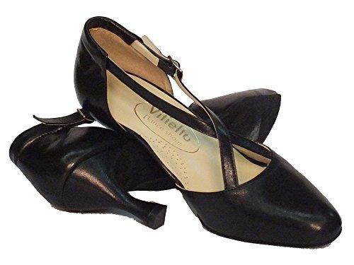 Vitiello Dance Shoes  Cuccarini nero Tacco 7, Damen Tanzschuhe Schwarz Nero Nero