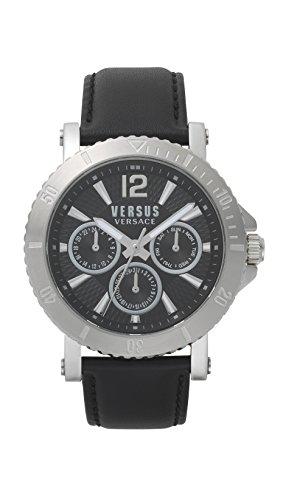 - Versus by Versace Men's Analogue Quartz Watch with Leather Strap VSP520218