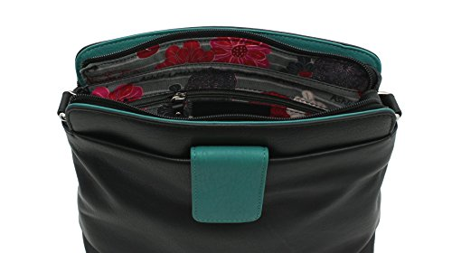ac Shoulder Ashlie Leather Black Black Teal Style Plum Craft Bag AC8200 1qaYqT