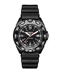 Traser 105476 Swiss H3 Tornado Pro Black Rubber Strap Black Dial Watch