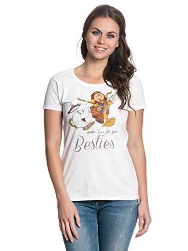 Beauty & The Beast Besties Damen T-Shirt Weiß