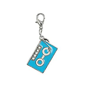 Charm casete de audio azul by Charming Charms