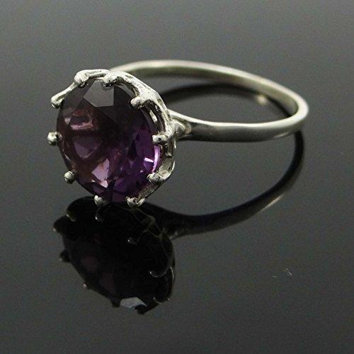 Banithani 925 argent pur anneau améthyste pierre belle de bijoux indiens