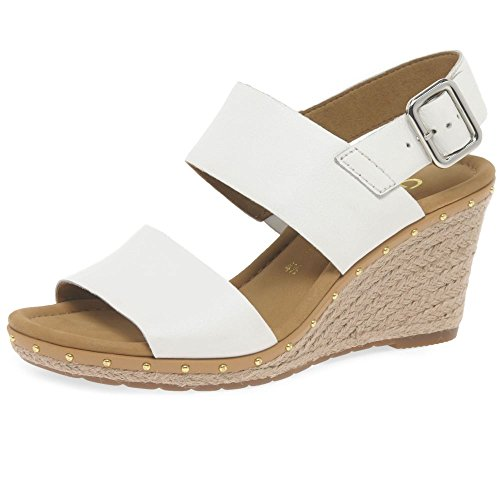 Gabor WoMen Comfort Sport Ankle Strap Sandals, Brown White