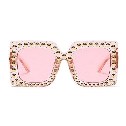 retro al vacaciones sol cuadrada forma mujer aire verano playa gafas sol de gafas tamaño de de para conducir protección del de remache libre grande gran moda de UV para ojos de Estilo Tonos Proteccion qBtgafx