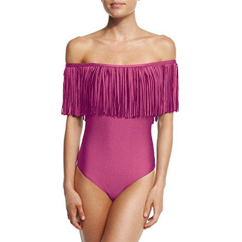 spiaggia Pink Hippolo One Piece Red irregolare Hot bikini costume signora nappa Wine da donne Body costumi tuta da bagno bagno sexy medium BB4rq17wx