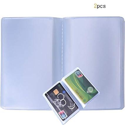 2 fundas de plástico para tarjetas de crédito, con 10 ...