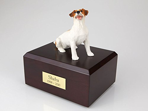 - Ever My Pet Jack Russell Terrier Sitting Figurine Urn Brown Small