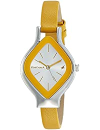 Fastrack Women's 6109SL01 Casual Yellow Leather Strap Watch