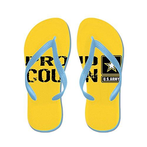 CafePress U.S. Army: Proud Cousin (Gold) - Flip Flops, Funny Thong Sandals, Beach Sandals Caribbean Blue