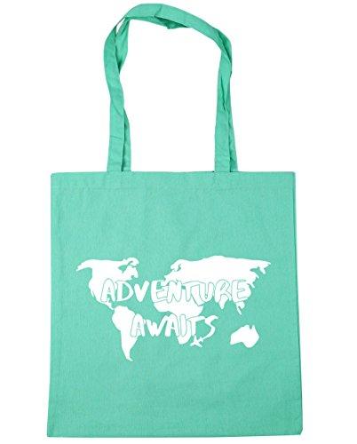 HippoWarehouse aventura aguarda Tote Compras Bolsa de playa 42cm x38cm, 10litros verde menta