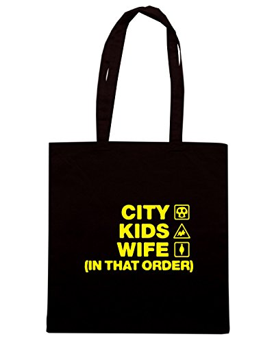 T-Shirtshock - Bolsa para la compra WC1163 hull-city-kids-wife-order-tshirt design Negro