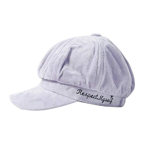 - residentD Women's Baseball Cap, Autumn and Winter Warm Fashion Embroidered DomeTrend (A)