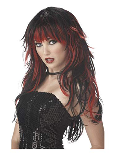 Halloween Costumes Black Wigs (California Costumes Women's Tempting Tresses Wig,Red,One)