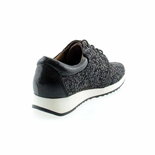 cordones Laufsteg negro 161103 München negro talla negro de Zapatos mujer para única wI7RI4q