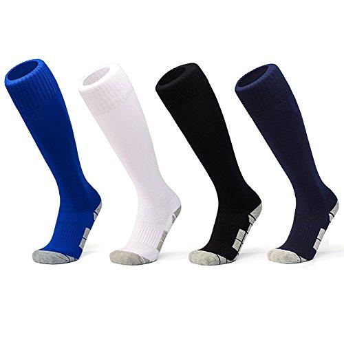 Hot Coolloog Kids Adult Sport Soccer Socks Toweling Textile Knee High Tube Sock for Boys Girls Mens Women for sale