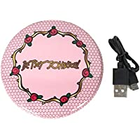 Betsey Johnson Mirror Compact Portable Phone Charger Power Bank, Pink Rose