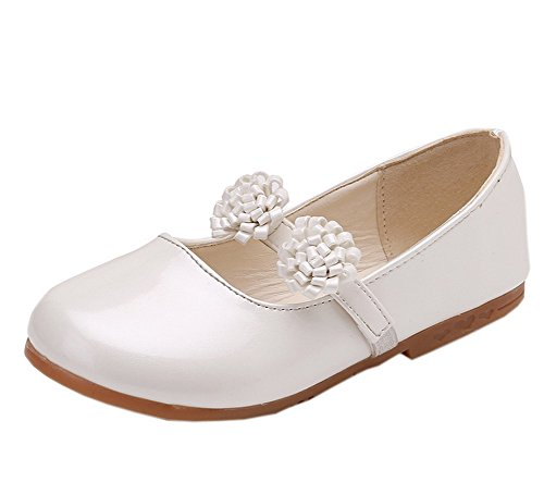 Shoes Basic Round Toe Patent Ballerina Flats White 10 (Patent Ballerina)