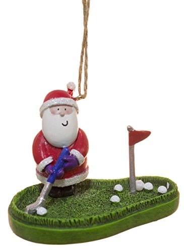 Cape Shore Santa Claus on The Putting Green Ornament