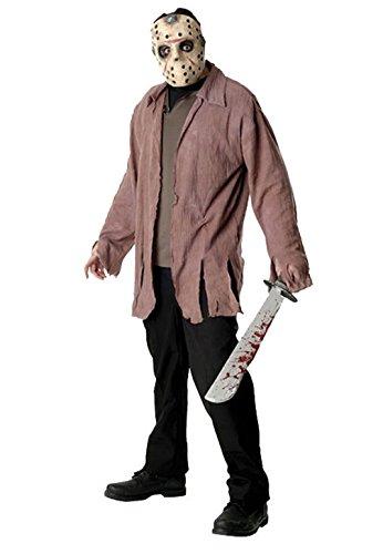 [Mememall Fashion Friday the 13th Jason Serial Killer Adult Halloween Costume] (Serial Killer Halloween Costume)