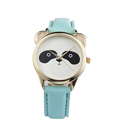 Women Quartz Watch DBHAWK Fashion Lovely Panda Face Faux Leather Band Casual Analog Quartz Wrist Watch for Lady (C) ()