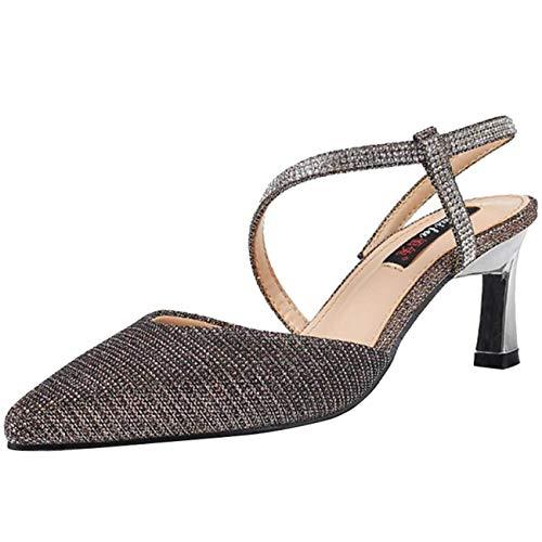 Sandales Uk Talon Taille Or Pour À coloré Or 5 Hhgold Diamants Et Aiguille Femme 6qC76wxd