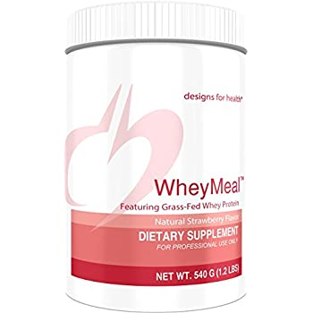 Designs for Health - WheyMeal Strawberry (Formerly PaleoMeal) - Grass Fed Whey Protein Powder