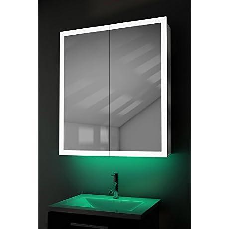 Ambient Lighted Edge Bathroom Cabinet Demist Shaver Sensor K419t